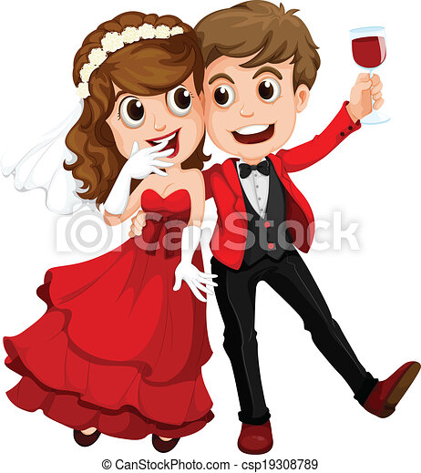 A couple who just got married - csp19308789