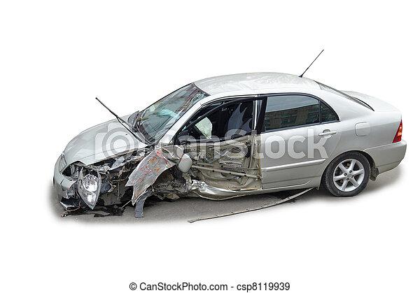 a crashed car - csp8119939