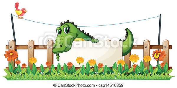 A crocodile in the fence - csp14510359