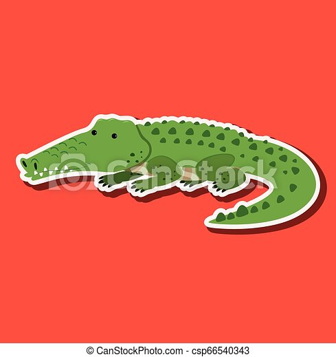 A crocodile sticker character - csp66540343