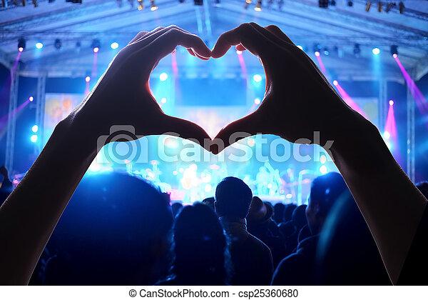 a crowd of people concert - csp25360680
