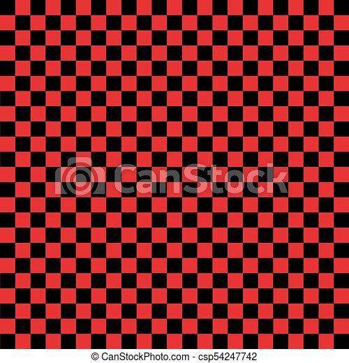 A Cuadros Negro Rojo Plano De Fondo A Cuadros Cage Ilustracion