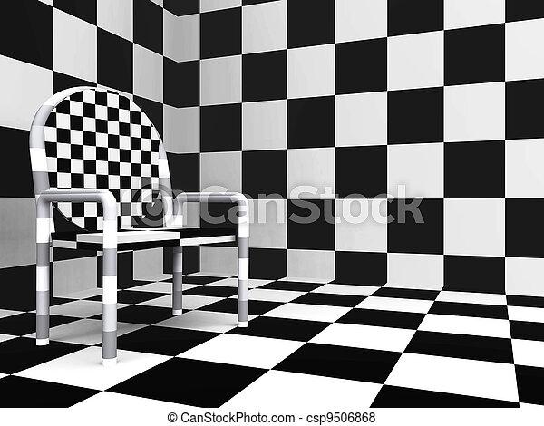 a cuadros plano de fondo piso blanco y negro moderno paredes tonos silla foto de archivo - Cuadros En Blanco Y Negro
