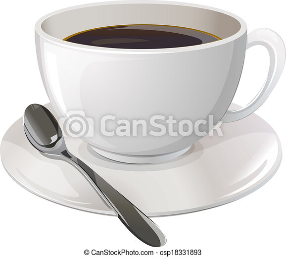 A cup of black coffee - csp18331893