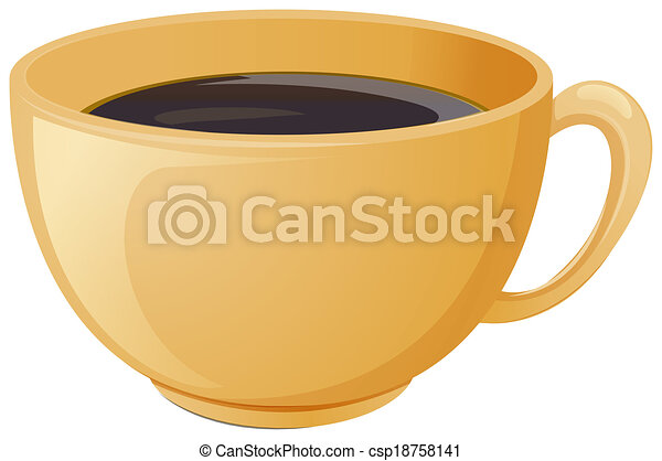 A cup of brewed coffee - csp18758141