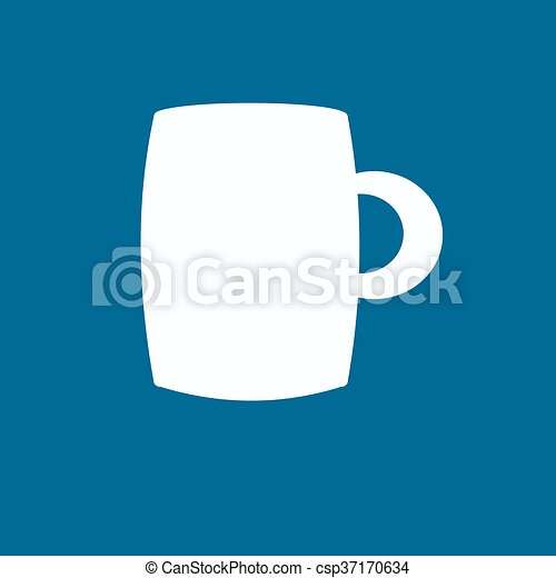 A cup of coffee icon - csp37170634