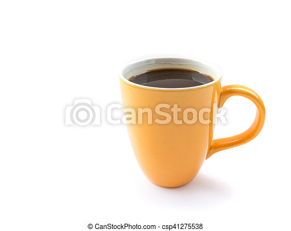A cup of coffee on white background - csp41275538