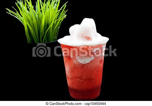 A cup of frozen fruit tea - csp10450444