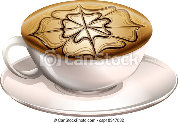 A cup of hot coffee - csp18347832