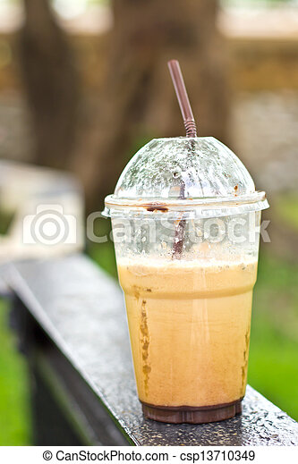 A cup of ice coffee - csp13710349