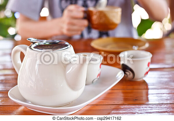 A cup of tea. - csp29417162