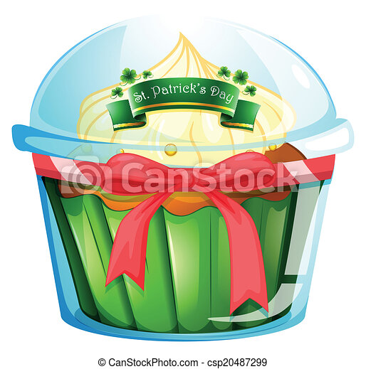 A cupcake for St. Patrick's day - csp20487299