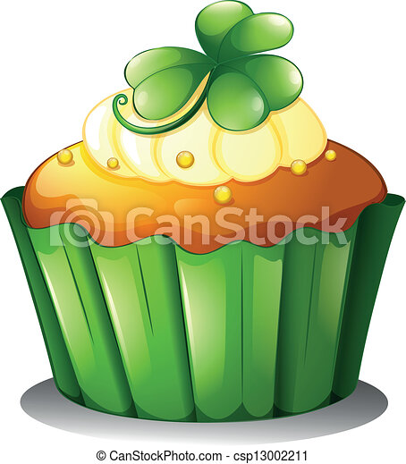 A cupcake for St. Patrick's Day - csp13002211