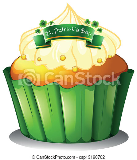 A cupcake for the celebration of St. Patrick's day - csp13190702