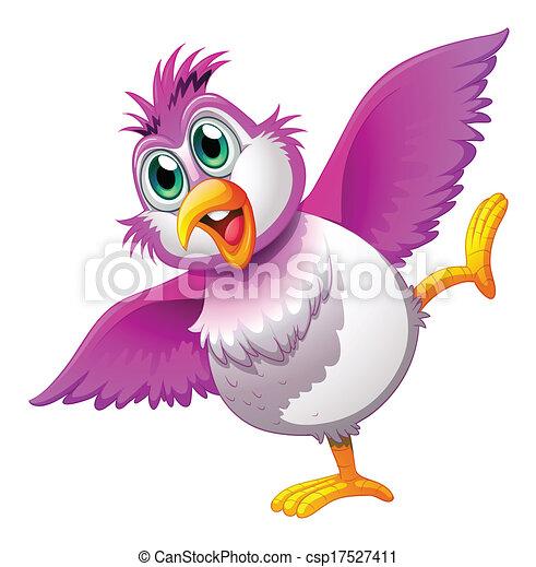 A cute colorful bird - csp17527411