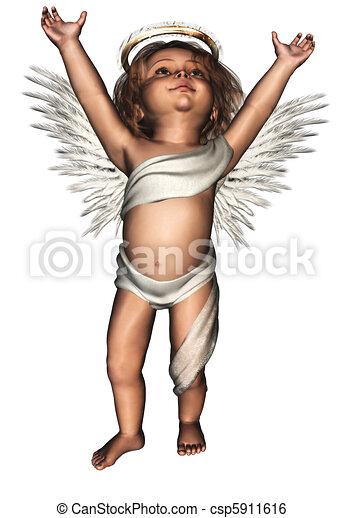 a cute guardian angel - csp5911616