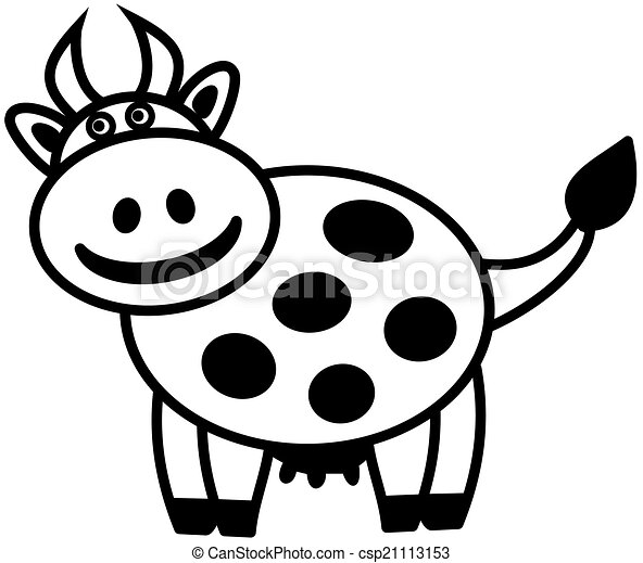 A Dairy Cow In Shadow