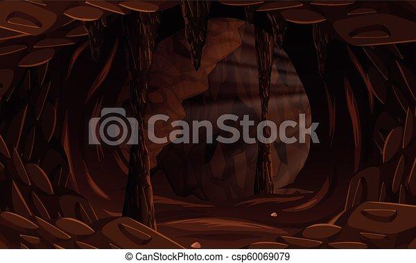 A dark cave landscape - csp60069079