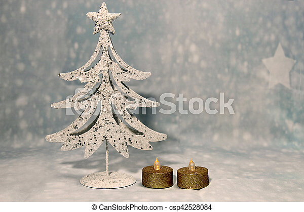 A decorative Christmas tree - csp42528084