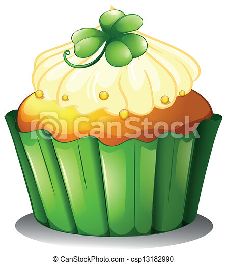 A delicious cupcake for St. Patrick's day - csp13182990