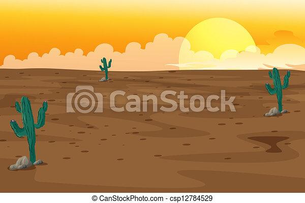 A desert - csp12784529