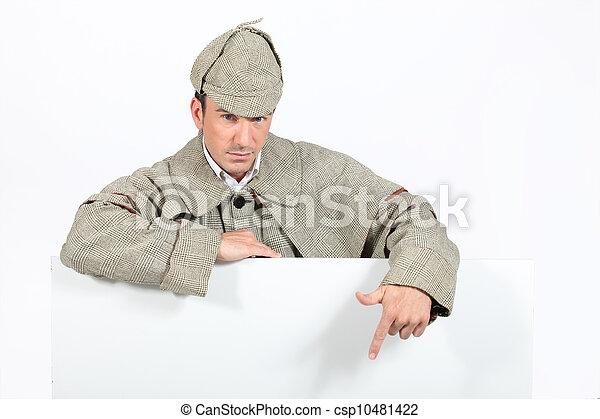 a detective showing a copyspace - csp10481422