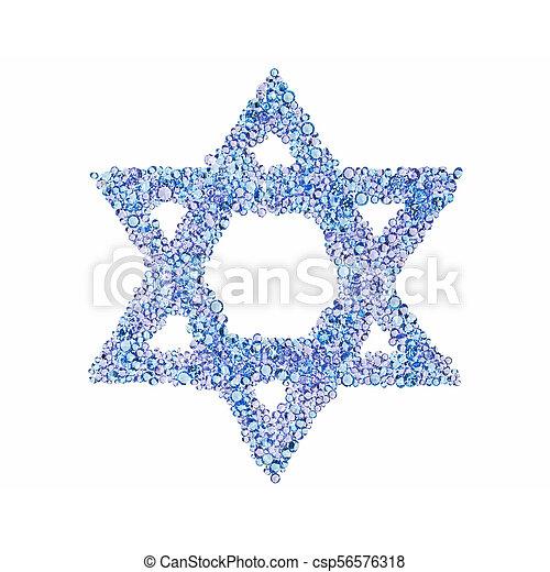 A diamond Star of David - csp56576318
