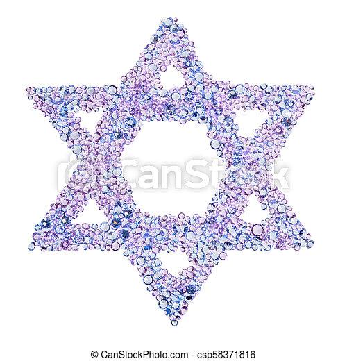 A diamond Star of David - csp58371816