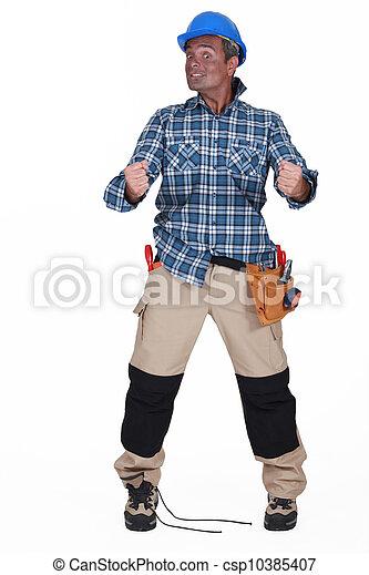 A disoriented man - csp10385407
