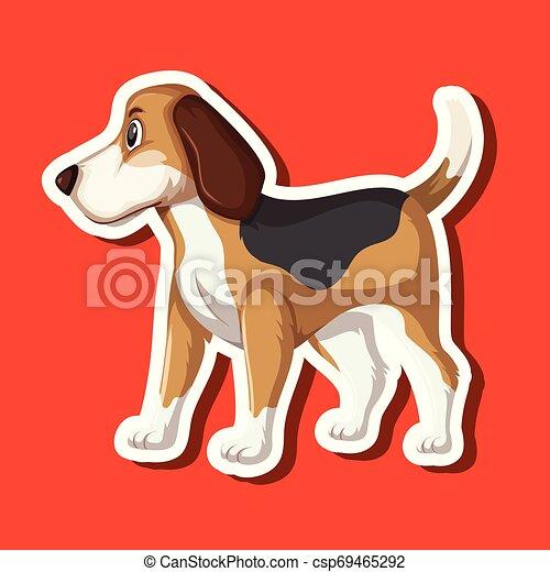 A dog sticker character - csp69465292