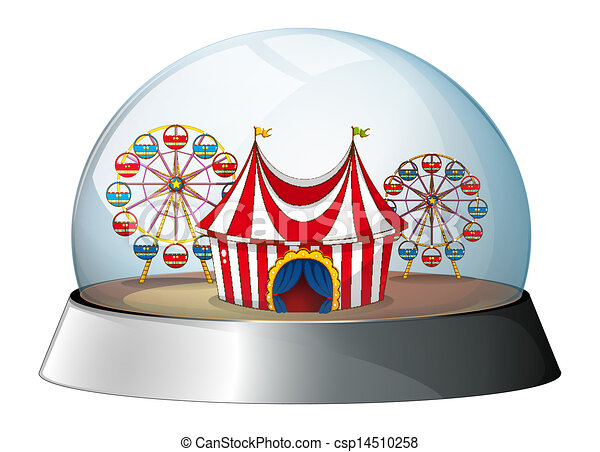 A dome with a carnival inside - csp14510258