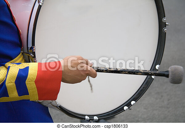 A drummer in a military band - csp1806133