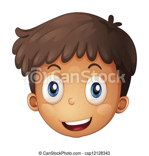 A Face Of A Boy Illustration Of A Face Of A Boy On A White