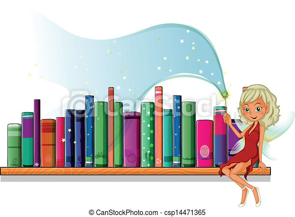 A fairy in the library - csp14471365