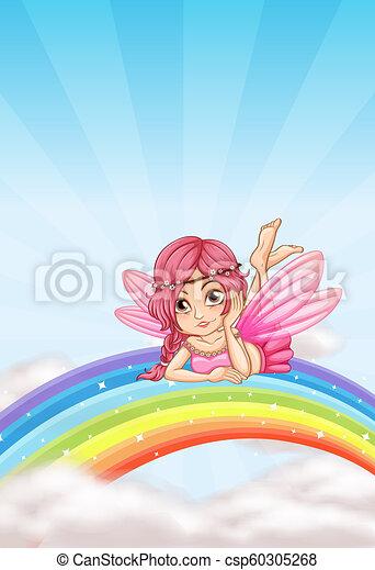 A fairy on the rainbow - csp60305268