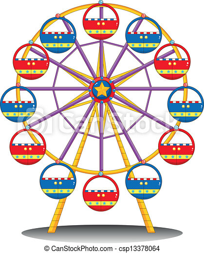 illustration of a ferris wheel on a white background clip art vector rh canstockphoto com ferris wheel clipart black and white ferris wheel clipart black and white