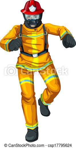 A firefighter - csp17795624