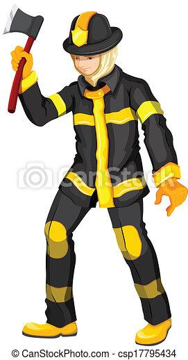 A fireman - csp17795434