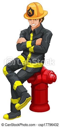 A fireman - csp17796432