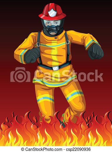 A fireman - csp22090936