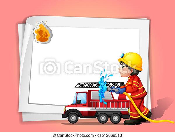 A fireman  - csp12869513