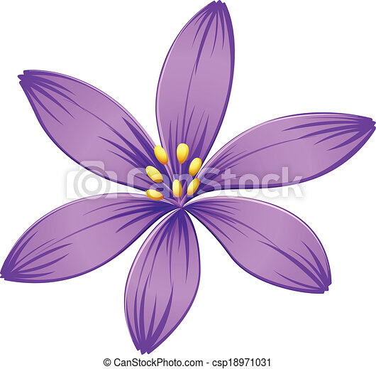 A five petal purple flower illustration of a five petal purple a five petal purple flower csp18971031 mightylinksfo
