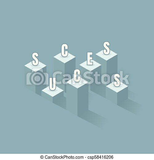 A flag of success. bar graph business to the success of the financial schedule. Leader, winner and concept of success. Vector illustration - csp58416206