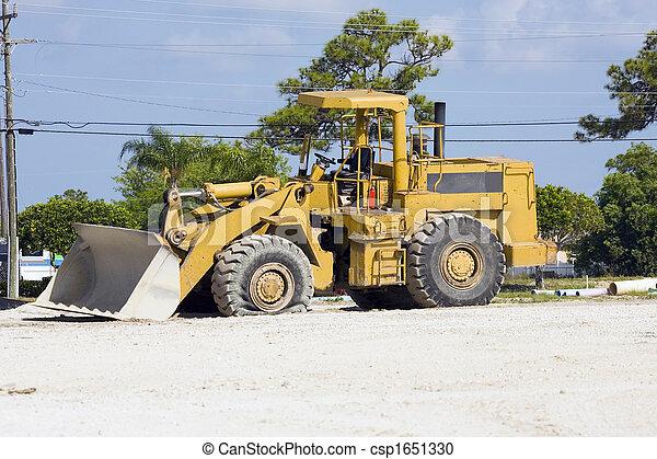 A flat tire to start the week - csp1651330