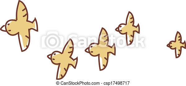 A flock of birds - csp17498717