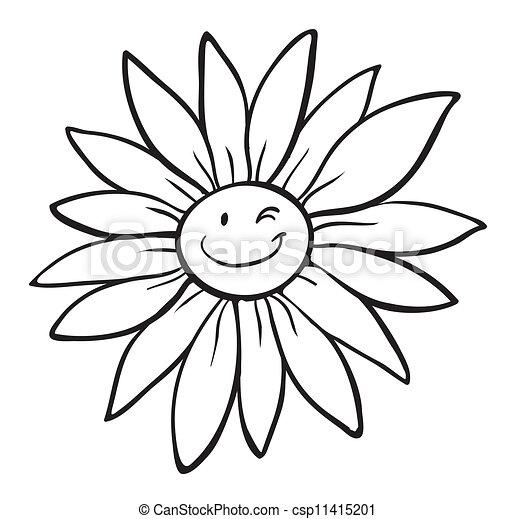 a flower sketch - csp11415201