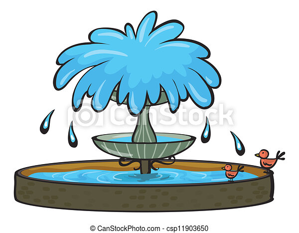 illustration of a fountain on a white background clipart vector rh canstockphoto com drinking fountain clipart fountain clip art free
