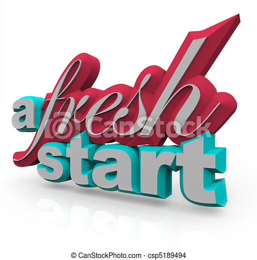 A fresh start - 3d words. The words a fresh start in 3d on a ...