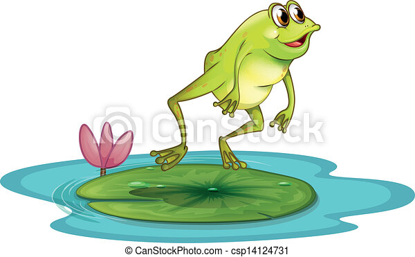 A frog at the pond - csp14124731