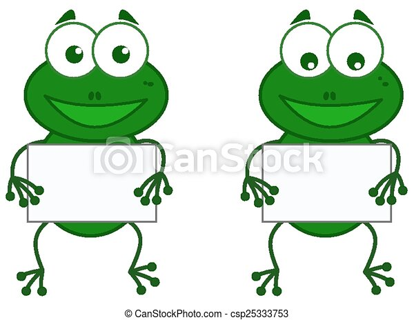 a frog with sign - csp25333753